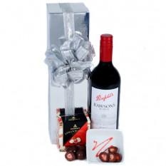 Senden Sie die Red - Wein und Schokolade Hamper