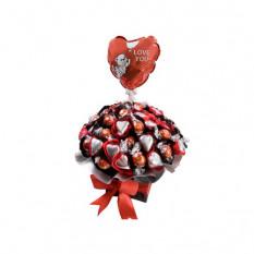 So geliebt - Schokoladenarrangement mit FREE BALLOON