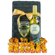 Weiße Sucht - Gourmet Wein Geschenk Korb
