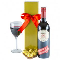 Ruby Red - Rotwein-Geschenkkorb