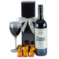 Atemberaubende Shiraz - Rotwein Geschenkkorb