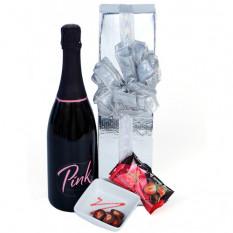 Pink Sparkles - Weinkorb