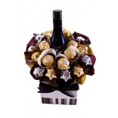 Schmelzender Merlot - Schokoladenkorb